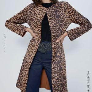 Zara Fsuex Suede Coat